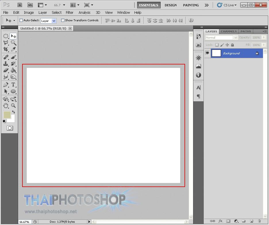 สร้างไฟล์งาน photoshop 3